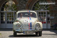 VW Käfer 1200 Export 'Herbie' (1960) - an der Rallye Historique anlässlich der Schloss Bensberg Classics 2015. © Bruno von Rotz für Zwischengas