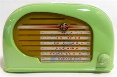 <b>A Bakelite radio Peter Pan Snail, 1949 in an exceptionally rare green</b> <br /> Electrically serviced and in working order. <br />
