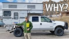 This video answers the question why we bought a truck camper instead of a camper van. Pop Up Truck Campers, Cool Campers, Overland Truck, Rv Homes, Vans Shop, Camper Life, 4x4 Trucks, Campervan, Van Life