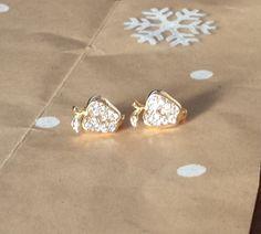 "3/8"" Cubic Zirconia Apple Huggie Hoop 9k Yellow Gold Filled Earrings 10mm #Huggie"
