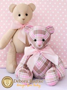 Incredible Home Sewing Crafts Ideas Teddy Bear Patterns Free, Teddy Bear Sewing Pattern, Stuffed Animal Patterns, Diy Stuffed Animals, Sewing Crafts, Sewing Projects, Handmade Soft Toys, Fabric Toys, Sewing Dolls