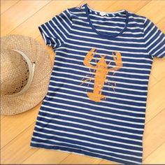 Ever popular lobster T-shirt from J. Crew Super condition lobster t-shirt from J Crew. Get ready for summer!  Small. J. Crew Tops Tees - Short Sleeve