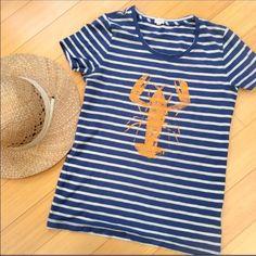 Ever popular lobster T-shirt from J. Crew Super condition lobster t-shirt from J Crew. Get ready for summer!  Small. J. Crew Tops Tees - Short Sleeve