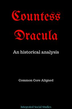 This Common Core-aligned history resource focuses on important history skills such as decision making and of course, historical analysis. Students will learn about the life of Elizabeth Bathory the world's most prolific serial killer. Or was she? This podcast and workbook presents the evidence and then students get to decide: serial killer or victim of misogynistic politicians and historians. Check out all the detail in my TpT store. #halloweenresource History Class, World History, Elizabeth Bathory, Teaching Social Studies, Student Studying, Thinking Skills, European History, School Resources, Decision Making