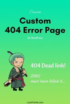 How To Create a Custom 404 Error Page on WordPress  404 is an HTTP error code that shows that the requested page is not found or not available or has been removed.  The 404 error page simply indicates that the requested item or information is not available on this website.  By setting up a custom 404 error page, you can tell your website visitors to take alternative actions in case a particular page of the website has stopped working for some reason.  #CreateCustom404page #Custom404errorpage…