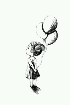 "Artist: Indrė Bankauskaitė; Pen and Ink Drawing ""Balloons"""