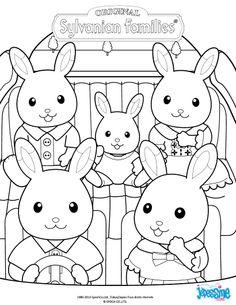 『キャラクター ぬりえ無料~シルバニアファミリー まとめ』 | 幼児礼拝用 | Pinterest | シルバニア ...