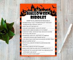 Halloween Riddles, Halloween Party Activities, Halloween Games Adults, Halloween Party Favors, Halloween Kids, Halloween Night, Halloween Crafts, Bachelor Party Games, Party Favors For Adults