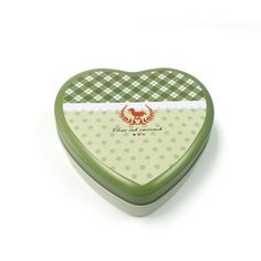 heart shaped tin container for chocolate