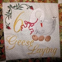 12 Days of Christmas Wallhanging - 5x7   Christmas   Machine Embroidery Designs   SWAKembroidery.com SewAZ Embroidery Designs