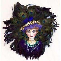Glitter Feather RIALTO FACE MASK Masked Ball Fancy Dress Mardis Gras