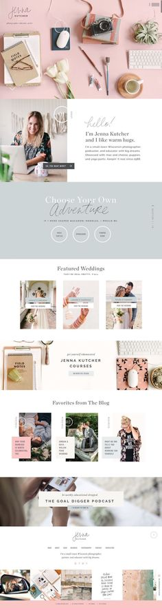 Top website design! Jenna Kutcher ShowIt website designed by Jen Olmstead