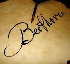 Ludwig van Beethoven's signature