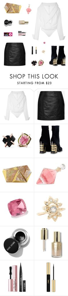 """Never Before"" by belenloperfido ❤ liked on Polyvore featuring Johanna Ortiz, Yves Saint Laurent, Melissa Joy Manning, Rafe, Vom Fass, Stila and Too Faced Cosmetics"