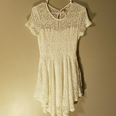 Dress White crochet dress,fully lined. Brand new has never been worn. Dresses Asymmetrical