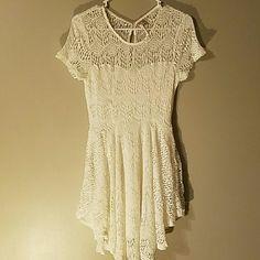 Dress White crochet dress,fully lined. Brand new has never been worn. Dresses Asymmetrical