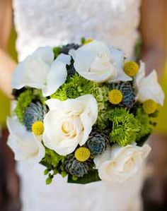 WeddingChannel Galleries: Green and White Bridal Bouquet