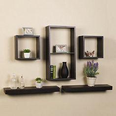 Melannco 5-piece Shelf Cube Set