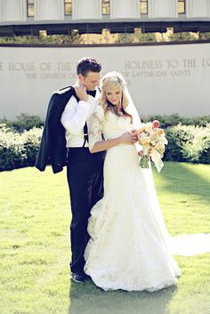 I really hope something this great can happen for me someday: Temple wedding, and a marriage that lasts!