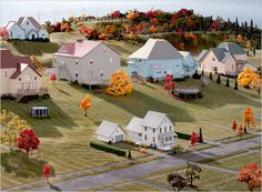View Landscape with Houses Dutchess County, NY 8 by James Casebere on artnet. Browse more artworks James Casebere from Sean Kelly Gallery. James Casebere, Tableaux Vivants, All The Bright Places, William Eggleston, Montage Photo, Little Boxes, The New Yorker, Of Wallpaper, Photo Booth