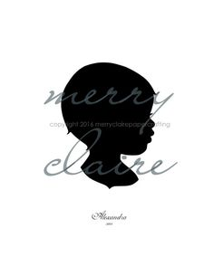 Merry Claire Papercrafting creates hand cut silhouettes, an old fashioned art that highlights the simple beauty of a profile. All silhouettes are based on photographs, cut to fit an 8x10 or 5x7 inch frame. When you place your order, designate your preferred size and background color. Your silhouette will be based on a photo that you submit to jillandclaire4 [!at] msn.com or via Etsy Convo. Once I receive your photo, I will create a drawing for you, and allow you to give feedback. We can make…
