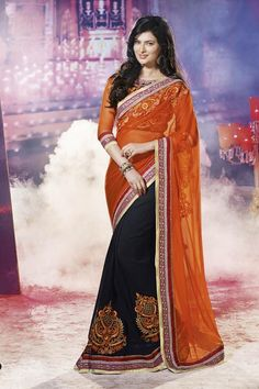 #party #saree @  http://zohraa.com/orange-net-saree-salsnp9009-e.html #partysarees #celebrity #zohraa #onlineshop #womensfashion #womenswear #bollywood #look #diva #party #shopping #online #beautiful #beauty #glam #shoppingonline #styles #stylish #model #fashionista #women #lifestyle #fashion #original #products #saynotoreplicas