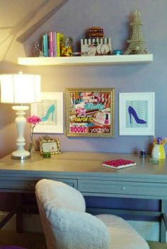 Modern Boho Teen Room, The only directive was that this teen loves purple. It combines a chic glamour meets boho vibe. This eclectic room is...