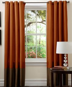 Love this Brown & Rust Prima Curtain Panel - Set of Two on #zulily! #zulilyfinds