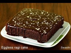 ragi chocolate cake, an eggless cake recipe using finger millet flour. I bake ragi biscuits, ragi cookies and this cake often for the kids for their snack Ragi Recipes, Eggless Recipes, Eggless Baking, Healthy Cake Recipes, Healthy Baking, Cupcake Recipes, Baking Recipes, Dessert Recipes, Desserts
