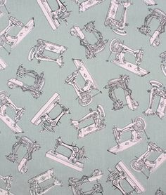 Sewing Machine/Serger Covers - Premier Prints Vintage Sewing Storm/Bella Twill Fabric at onlinefabricstore.net for $9.98/ Yard. Best Price & Service.