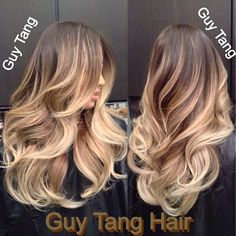 Guy Tang Ombre Hair - Hair color creates movement and contours the shape of the haircut, it add texture, body, and fullness! I use color to make your eyes travel through the design with my signature layered haircuts. Just like how make up enhances the features on the face! Hair color does that for the hair!