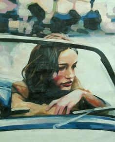 thomas saliot #thegirlinthecar #art #oil #paint
