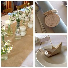 beautiful with the kraft white and the wooden tags on the napkin are also nice . beautiful with the kraft white and the wooden tags on the napkin are also beautiful – 18th Birthday Cards, Wooden Tags, Best Wedding Gifts, Orange You Glad, Wedding Invitation Design, Decoration Table, Diy Wood Projects, Simple Weddings, Communion