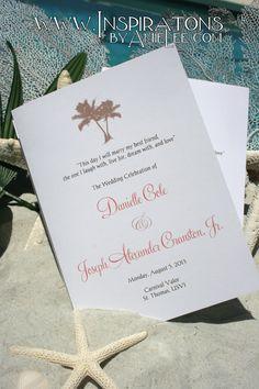 Wedding Programs - Tri-folds