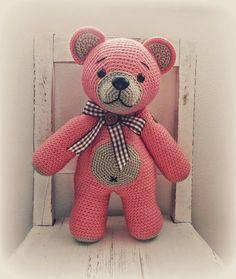 Miláček Retroušek Crochet Toys, Dinosaur Stuffed Animal, Teddy Bear, Retro, Animals, Crochet Ideas, Animales, Animaux, Teddy Bears