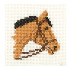 "Grey Pony (MKGP959)   Cute mini cross stitch kit designed by Heritage Crafts.   Quick project which may be suitable for beginners depending on their ability.    Contents: 14 count Zweigart fabric, DMC cotton threads, chart, needle and full instructions.   Size: 2.5"" x 2.5"" (6.5cm x 6.5cm)    You may also be interested in our square blank coaster which are suitable for most small kits.   We recommend using a 4"" hoop for this desi..."