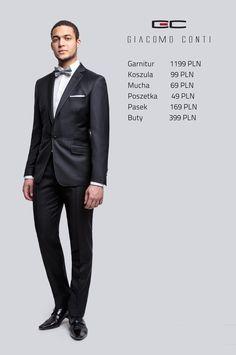 Stylizacja Giacomo Conti: garnitur Marcus A14/68B, koszula Mario 001 slim #giacomoconti