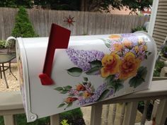 Mailbox custom ordered hand painted by DaisyCustomPainting on Etsy