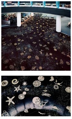 Michele Oka Doner's 'A Walk on the Beach' a half mile long installationof terrazzo embedded with mother of pearl and two thousand bronze sculptures of sea life, including starfish, sea urchins, and seaweed. / Miami International Airport.