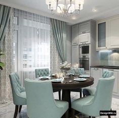 Image may contain: people sitting, table and indoor Kitchen Room Design, Home Decor Kitchen, Kitchen Interior, Home Interior Design, Interior Decorating, Living Room Designs, Living Room Decor, Neoclassical Interior, Apartment Living