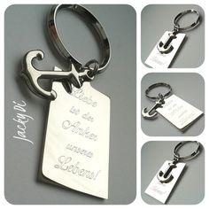 Schlüsselanhänger : Liebe ist der Anker unseres Lebens!