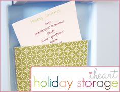 IHeart Organizing: IHeart: Our Holiday Storage