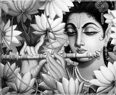 Krishna with nature