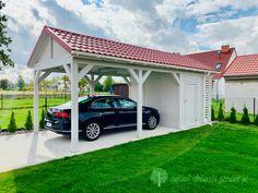 Wiata samochodowa z pokryciem z blacho dachówki Gazebo, Outdoor Structures, Kiosk, Pavilion