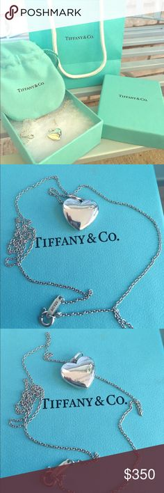 Tiffany & Co. Heart locket pendant with chain This beautiful heart locket will show anyone just how special they are. It can also be engraved to give it more meaning. It's sterling silver AG 925. Tiffany & Co. Jewelry Necklaces