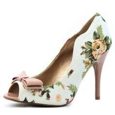 Amazon.com: Women's Qupid Multi-Color Fabric Peep Toe Floral Stilettos High Heel Pump Fashion Shoes: Shoes
