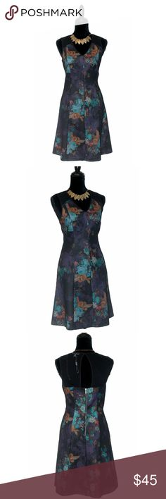 Spense Fit & Flare Dress With Mesh Insert New Without Tags  Size: 6  Product Details:  print design mesh insert all over sleeveless fit & flare silhouette exposed back zip closure v-neckline Spense Dresses