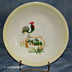 1940\u0027s Paden City Pottery Rooster on Washtub 8 by TooHipChicks $8.99 & Image detail for -FIVE PIECES BLUE RIDGE POTTERY ROOSTER PATTERN ...