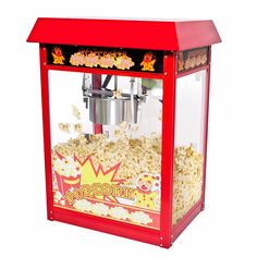 Goplus 8oz Deluxe Popcorn Popper Maker Machine Red Table Top Tabletop Theater  EP18966 #Affiliate