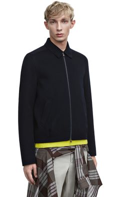 Acne Studios Shavy navy wool and cashmere jacket